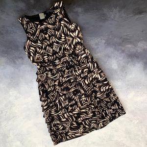 Taylor Fringe Ruffle Sleeveless Dress sz 6